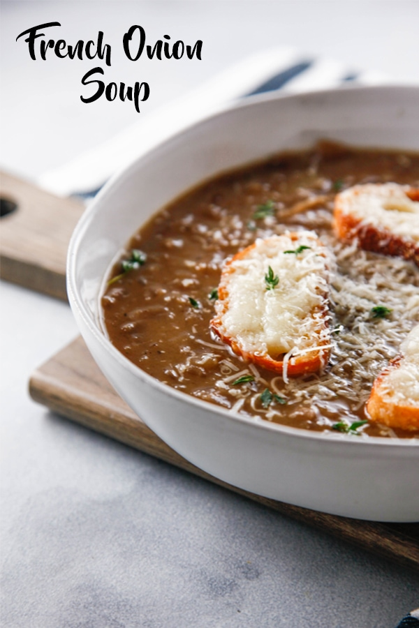 The easy French Onion Soup is and updated version of a classic bistro French Onion Soup. Experience classi France from your own kitchen.
