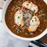 pinterest image french onion soup.