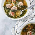Classic Italian Wedding Soup pinterest image