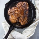 braai dry rubbed t-bone steak