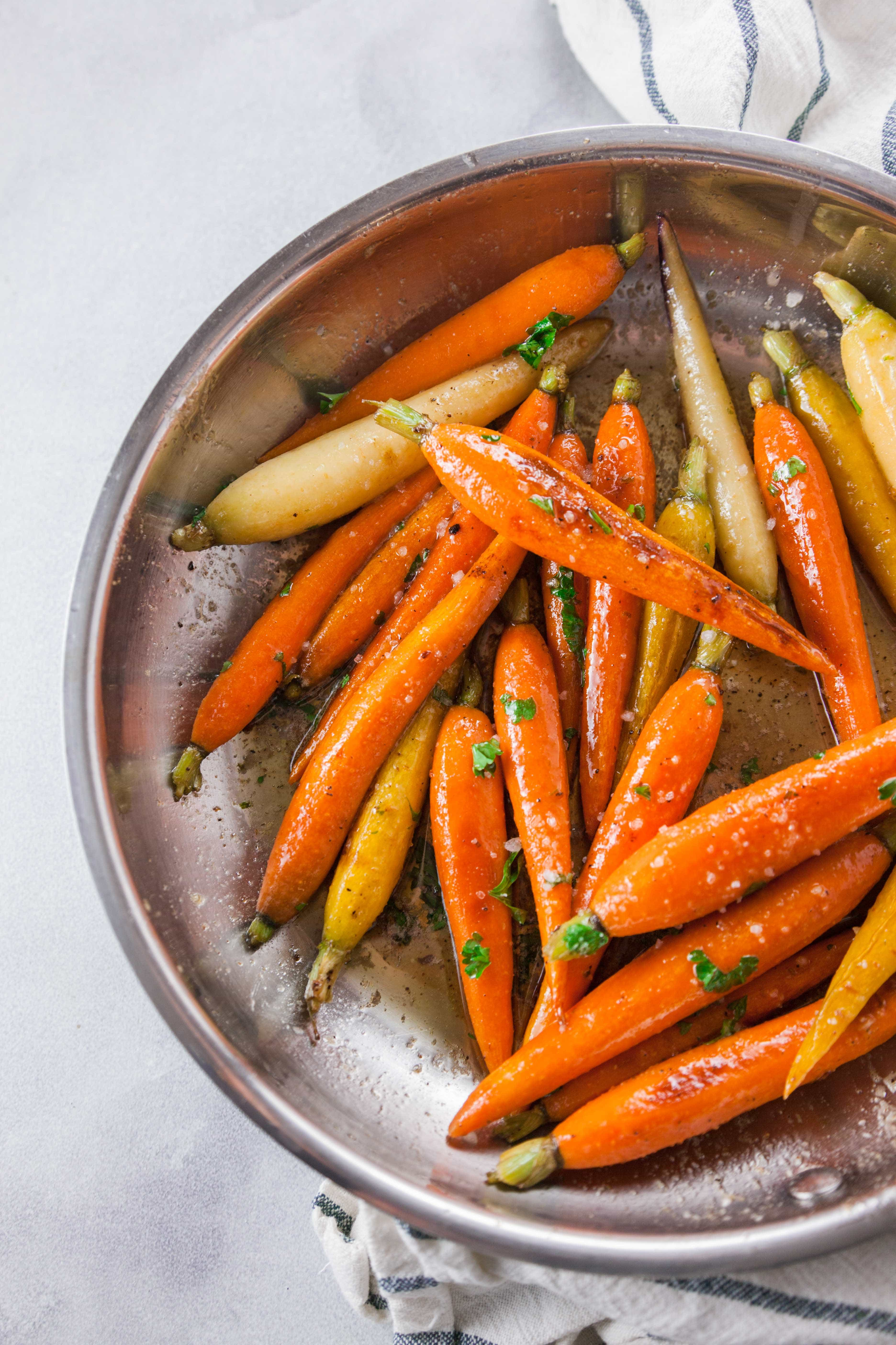 Maple Glazed Roasted Carrots Cold Weather Comfort