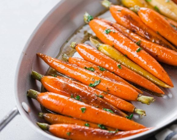maple glazed roasted carrots