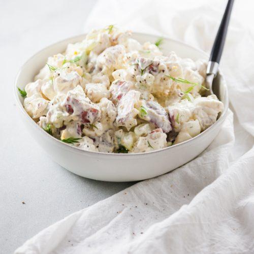A bowl of Creamy Potato Salad