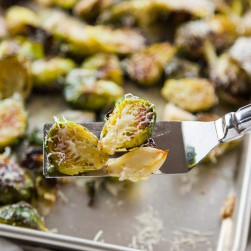 Garlic Parmesan Brussel Sprouts