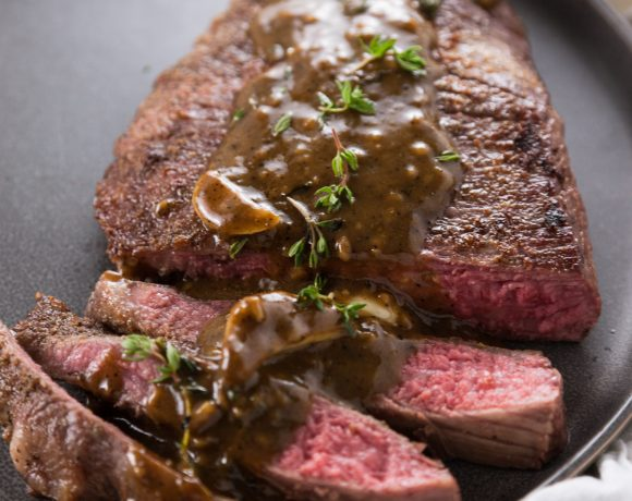Flank Steak with Pan Gravy