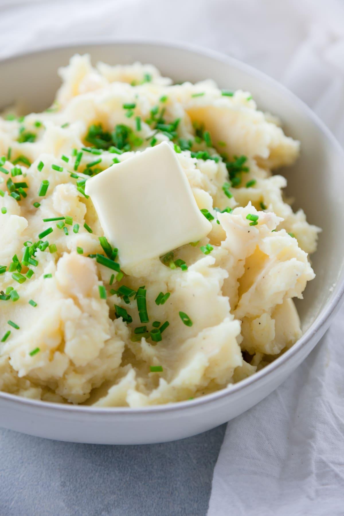 Garlic Chive Mashed Potatoes