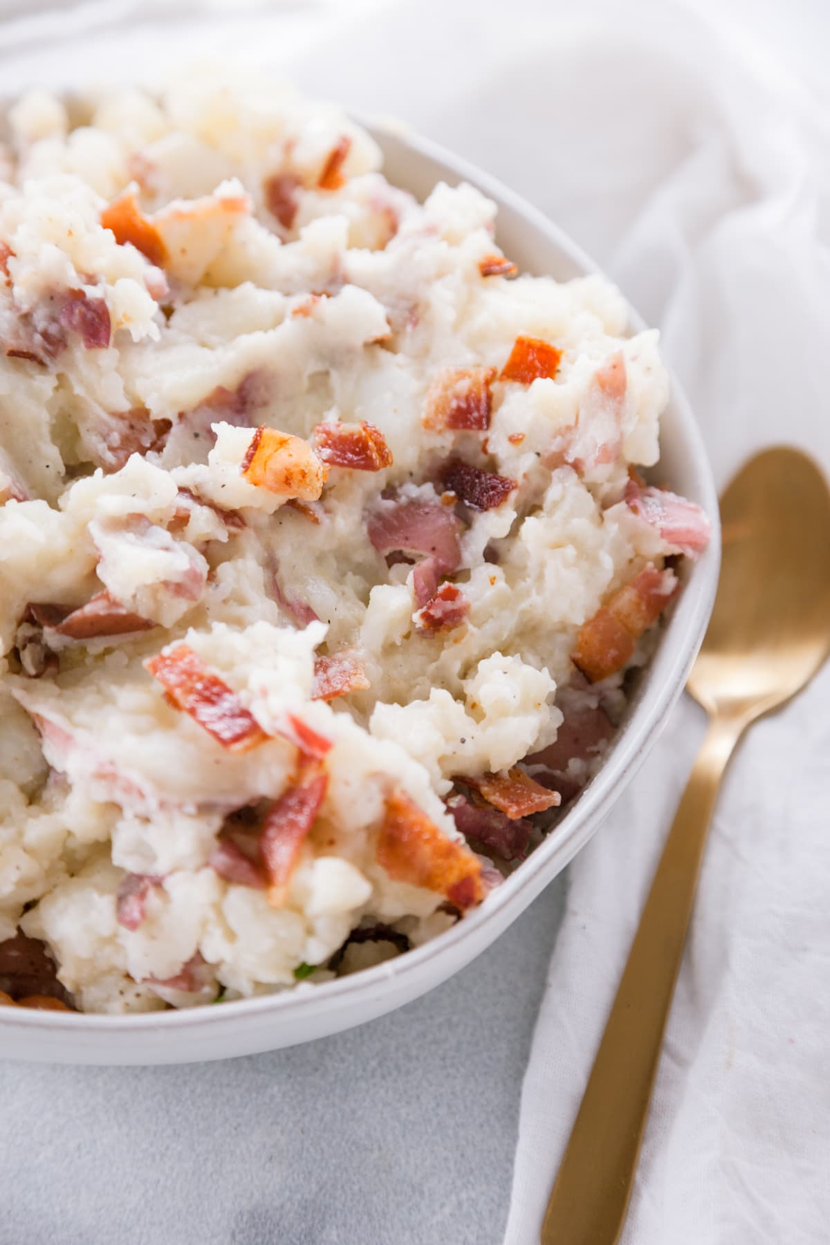 Bacon Mashed Red Potatoes