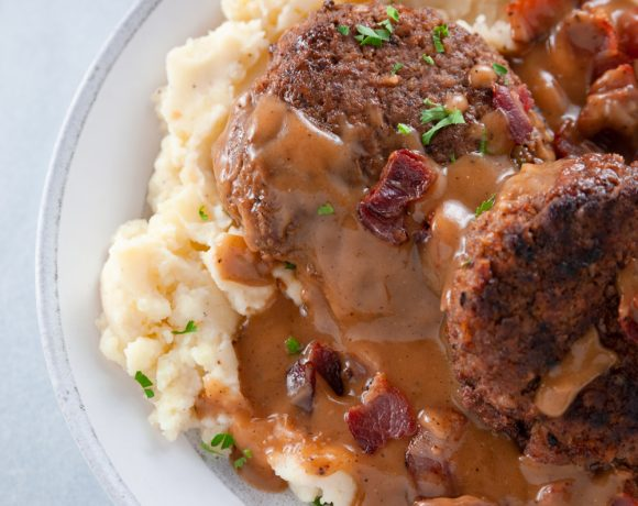 Salisbury Steak and Bacon Gravy