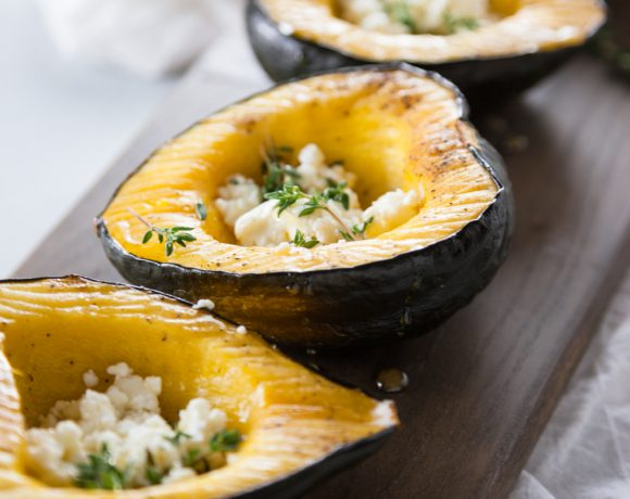 Honey Roasted Squash with Goat Cheese