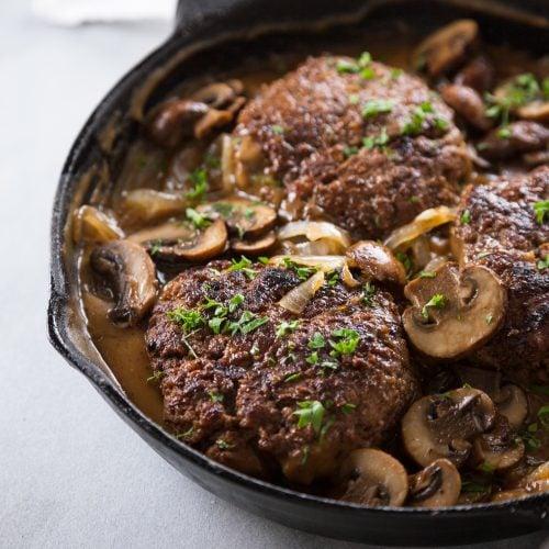Salisbury Steak with Mushroom Gravy