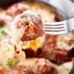 Pinterest Image for Meatball Parmesan