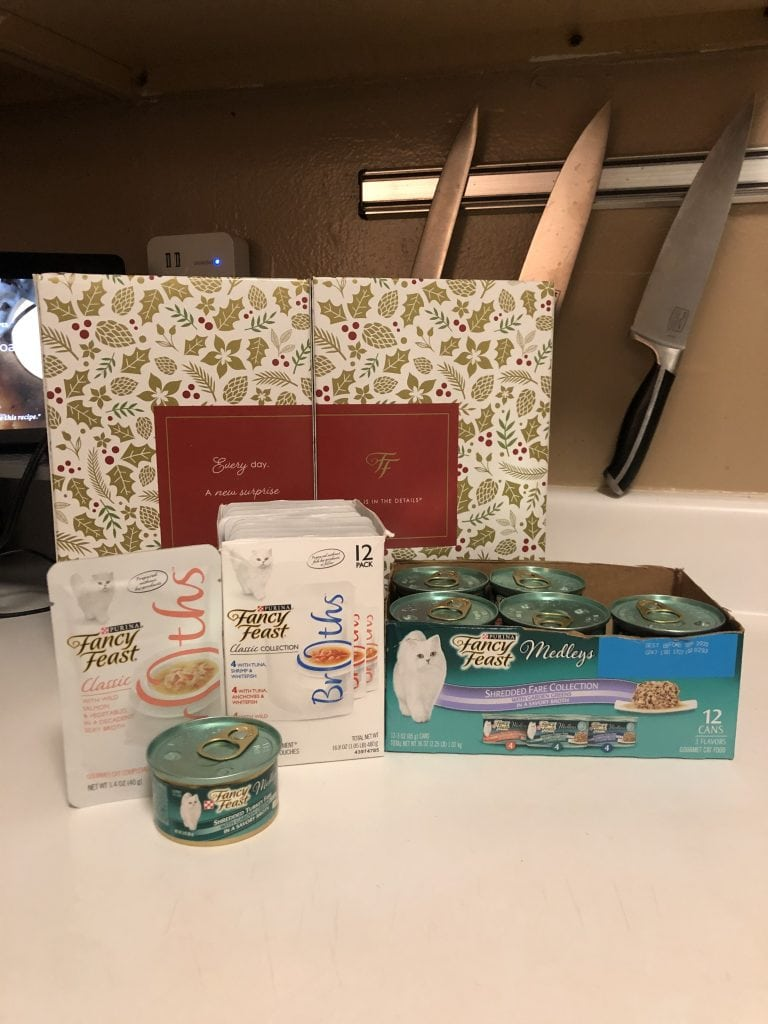 a selection of Purina Fancy Feast