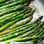pinterest image for brown butter asparagus
