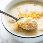 Pinterest Image for Ham and Potato Soup