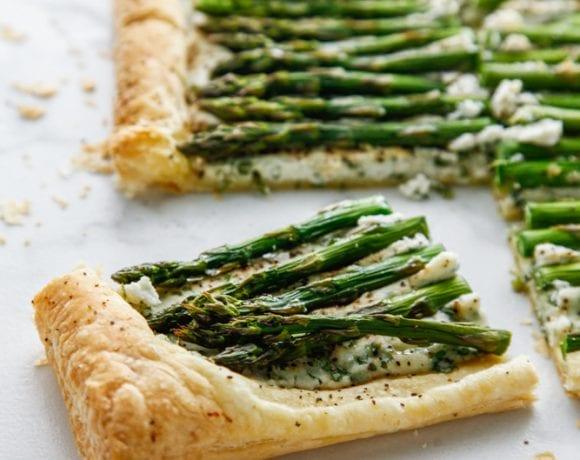Herbed Ricotta & Asparagus Tart