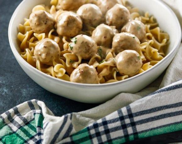 Swedish Meatballs with Egg Noodles