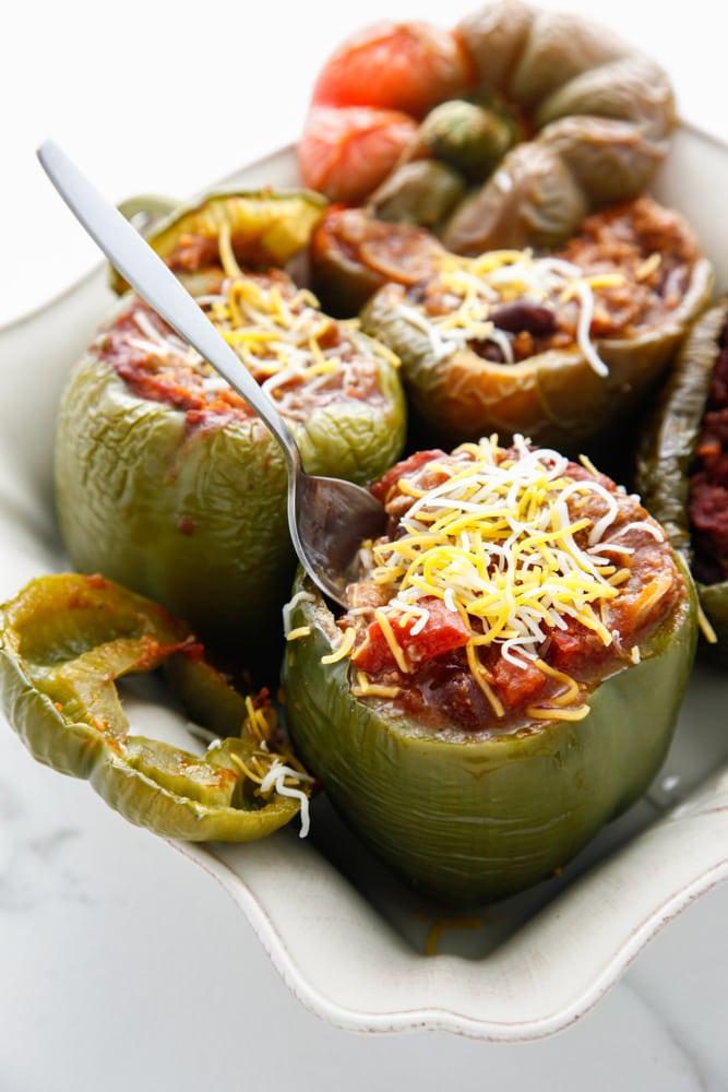 Chili Stuffed Peppers