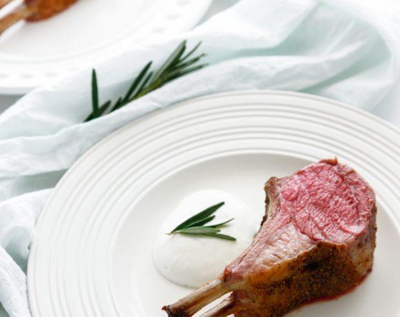 Lamb Chops with Mint Creme Sauce
