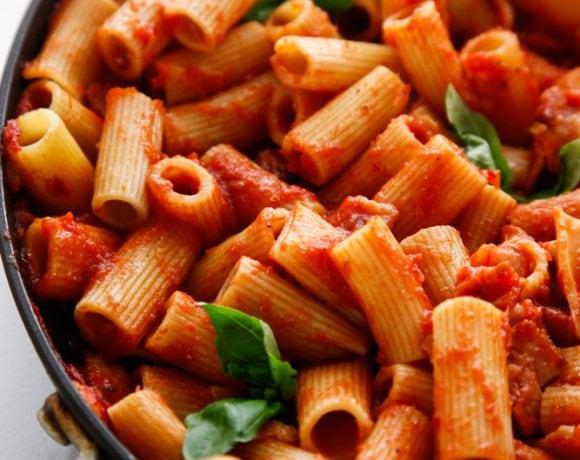 Bacon Tomato Rigatoni