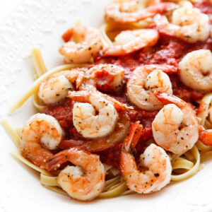 category image for seafood, featured is shrimp fra diavolo